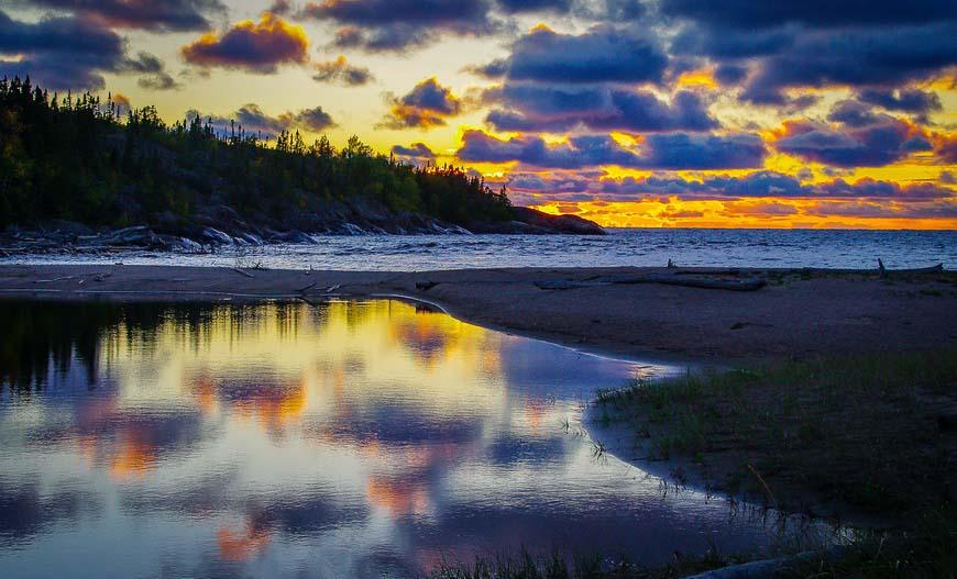 One last sunset shot on the Coastal Trail