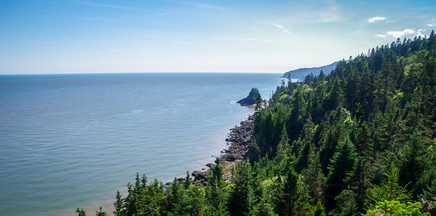 One of the things to do in Fundy National Park is to hike to Squaw's Cap Lookoff - a Fundy Biosphere Amazing Place