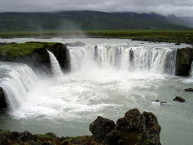 """Godafoss Waterfalls, Iceland"""