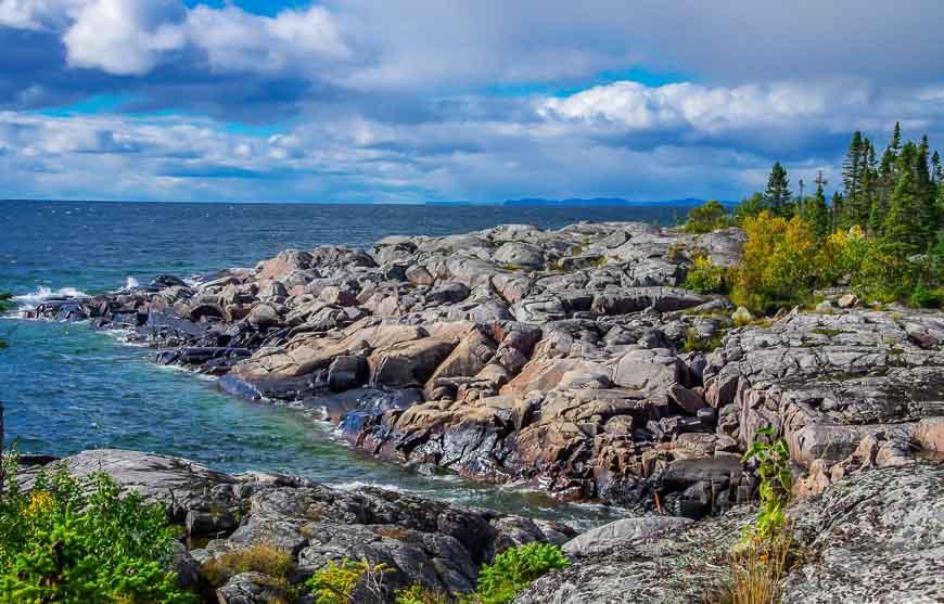 More rugged Lake Superior shoreline
