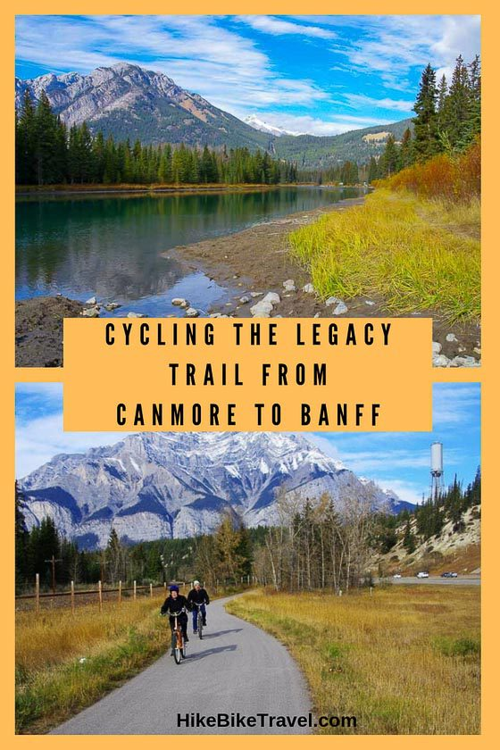 Biking the Legacy Trail from Canmore to Banff
