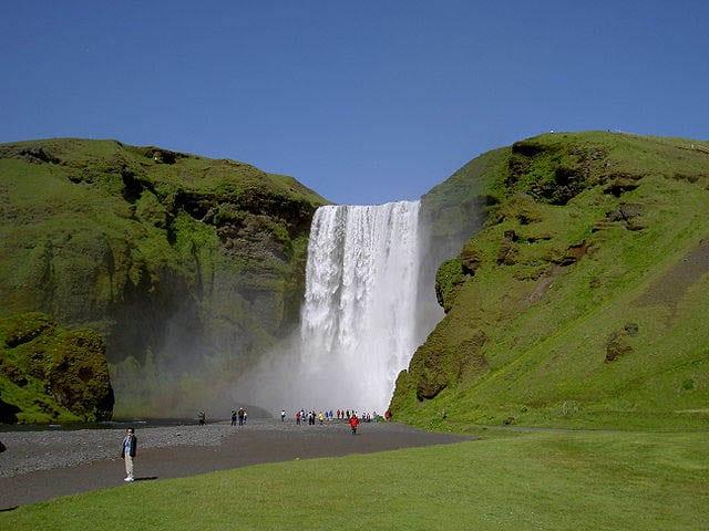 """Skogafoss Waterfall from below"""