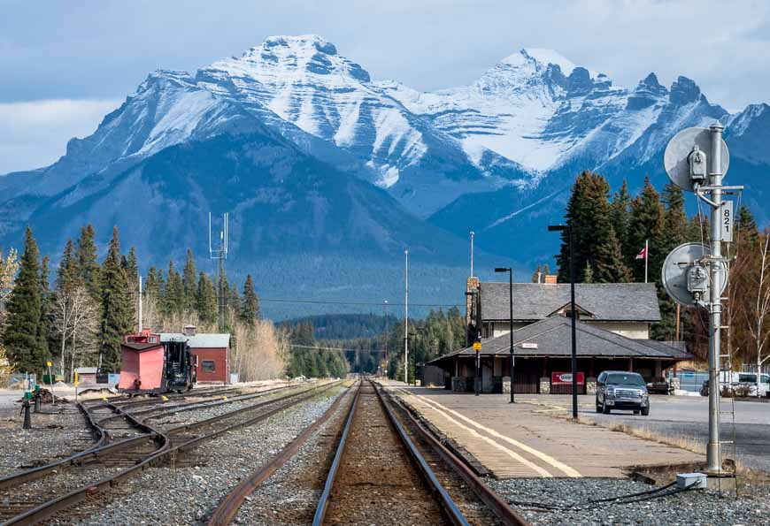 The Banff train station