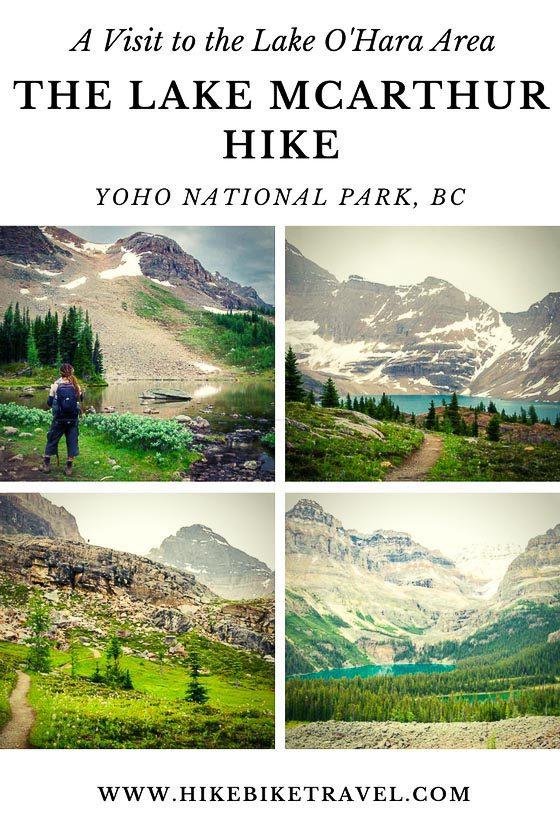 Lake McArthur hike in Yoho National Park, BC