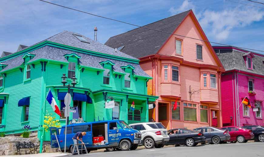 South shore Nova Scotia and the blindingly bright colours of Lunenburg houses