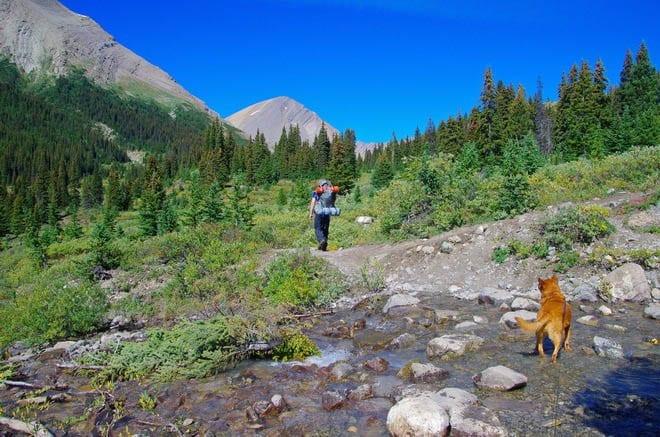 """Climbing up from Nigel Creek"""