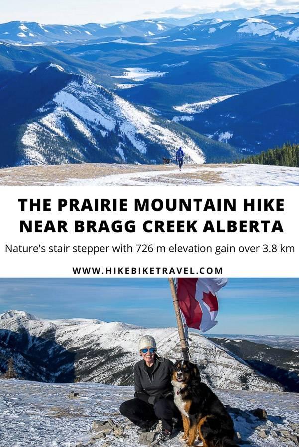 Prairie Mountain - a year round day hike near Bragg Creek, Alberta with 726 m elevation gain over 3.8 km