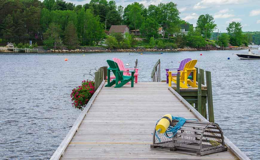 South shore Nova Scotia and a pretty scene of Mahone Bay