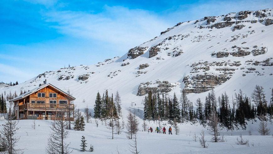 Skiing back to Talus for apres ski