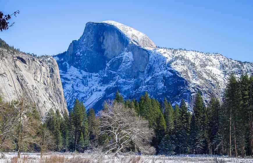 Half Dome is a magnificent hunk of granite