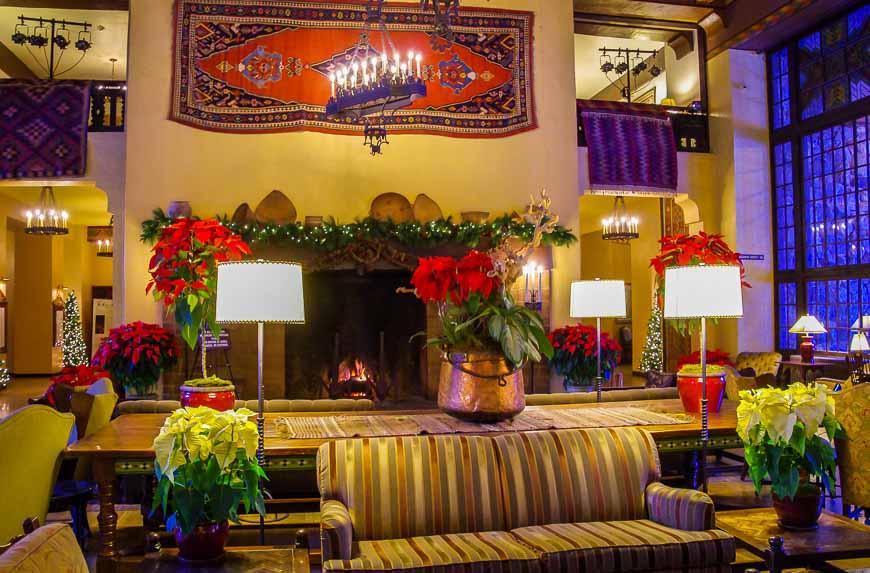 Inside the Ahwahnee Hotel in December