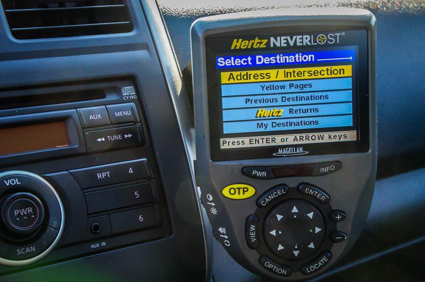 A GPS I used on a California trip
