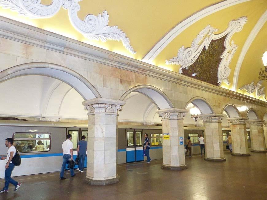 Moscow's beautiful subways
