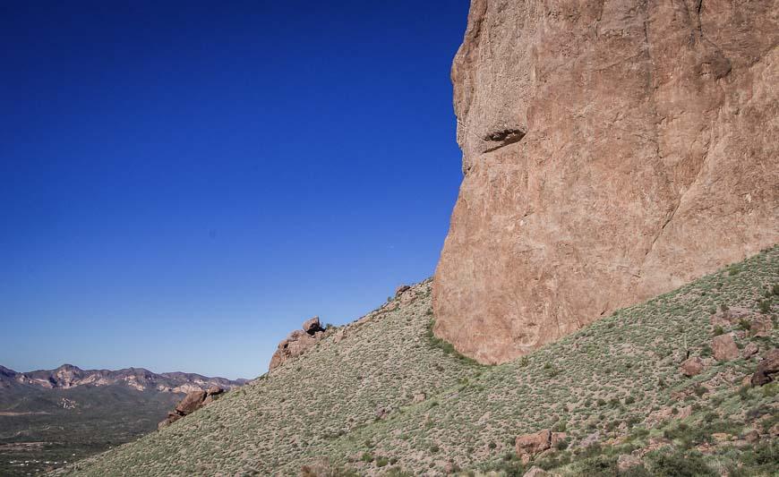 Looks like an eye in the rock face