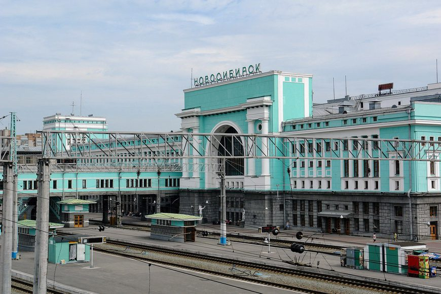 A colourful railway station in Russia