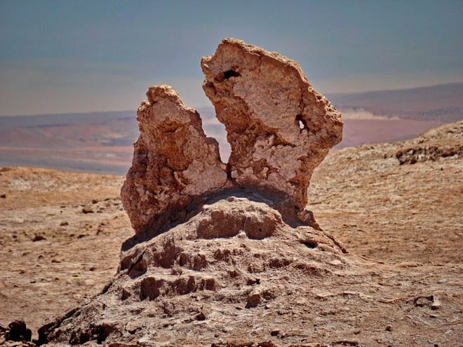 """Interesting rock formation in the Atacama Desert"""