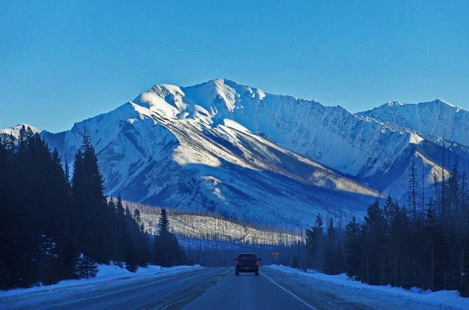 """""""Driving through Kootenay National Park en route to the Columbia Valley"""""""