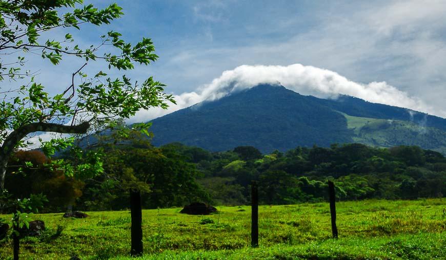 Miravalles Volcano seen from the highway