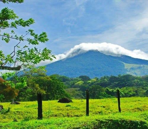 """Miravalles Volcano from the highway"""