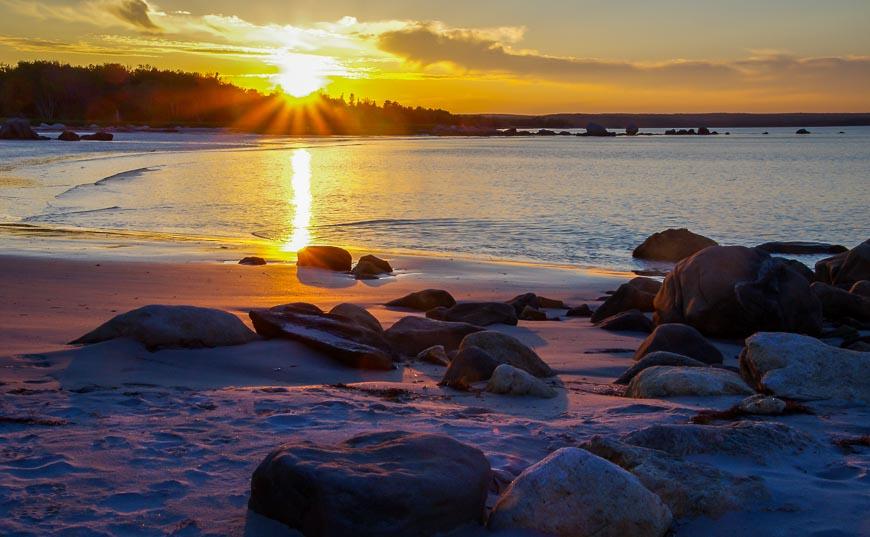 Sunset Over Seaside Kejimkujik National Park