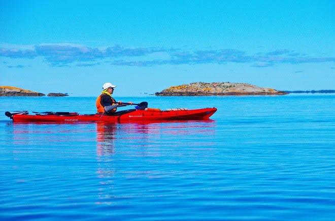 """kayakingthe Georgian Bay in mid-September"""