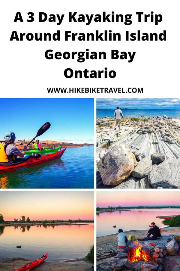 A 3 day kayaking trip around Franklin Island, Georgian Bay, Ontario