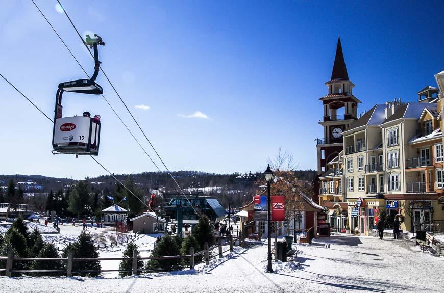 Getting around by gondola in Mont Tremblant Quebec