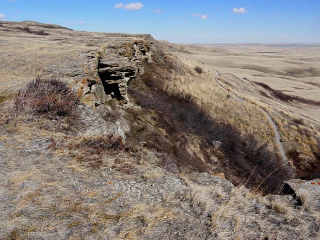 """Head #Smashed in Buffalo Jump - a UNESCO site in Alberta"""