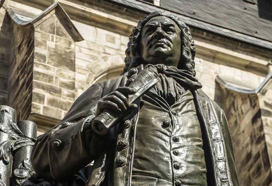 Statue of Johann Sebastian Bach outside of the St. Thomas Church