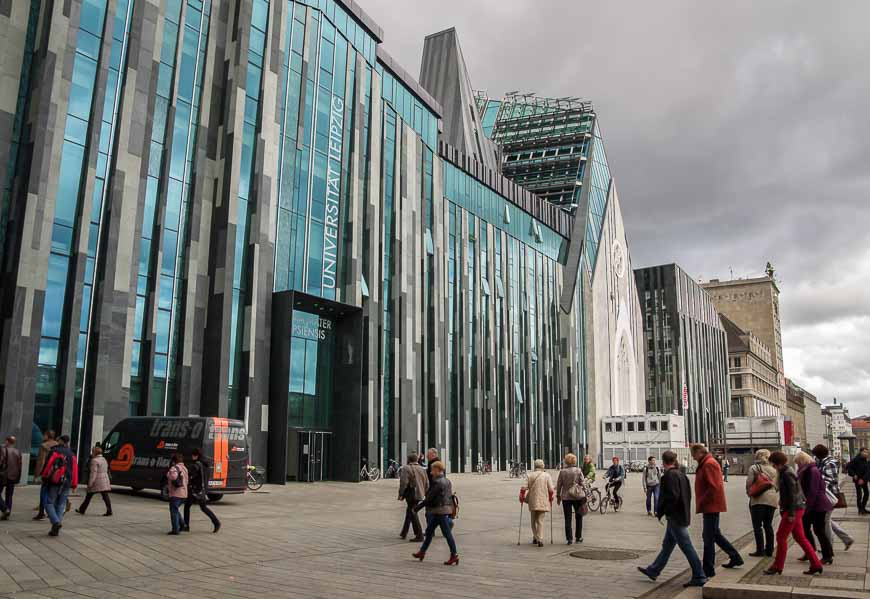 You can feel the buzz and the energy around the University of Leipzig