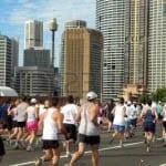 """Running across the Sydney Bridge - marathon"""