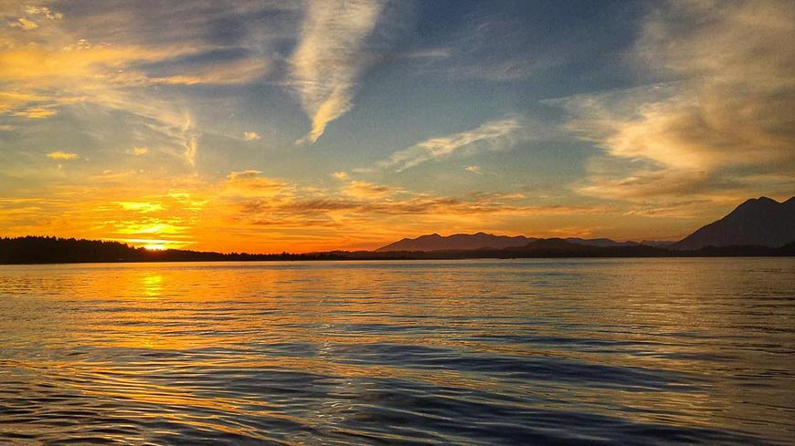Clayoquot Sound sunset - Photo credit: Andy Field on Flickr Creative Commons