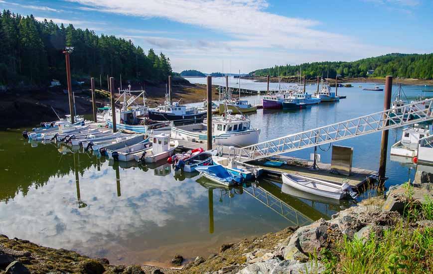 Inner harbour on Deer Island, NB