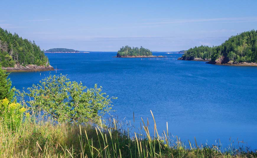 The area around Deer Island is dotted with smaller islands making it a kayaker's paradise