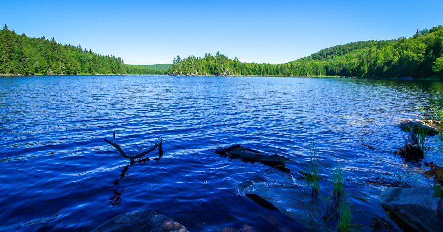 Lac aux Chevaux looks very pristine