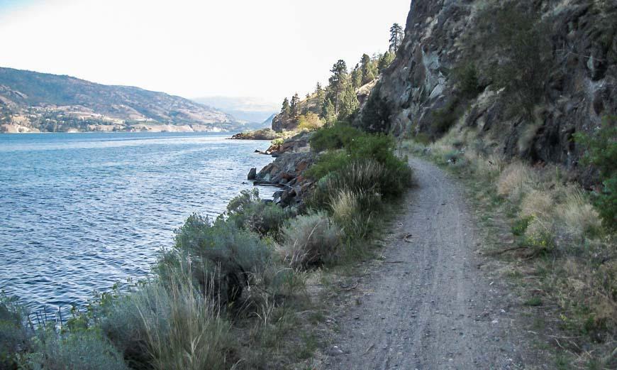 Lovely biking along Skaha Lake
