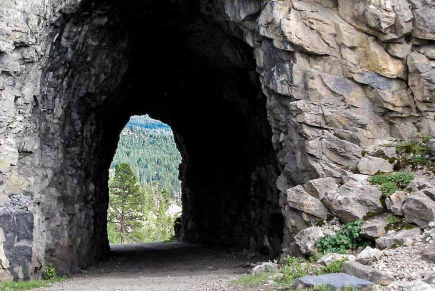 Biking The KVR Through A Tunnel