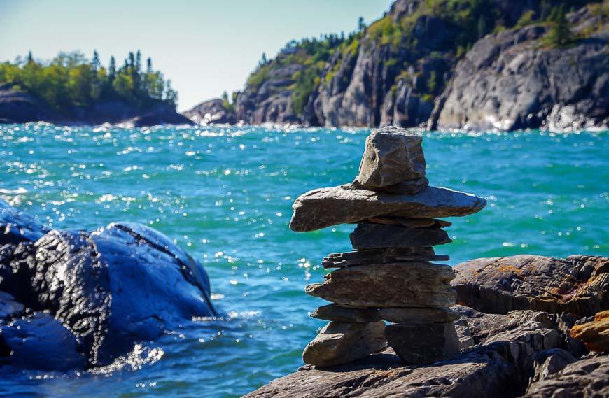 Inuksuk overlooking Lake Superior