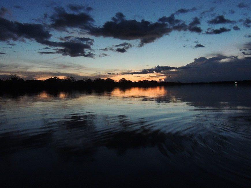 Sunset over the Amazon River in Brazil - Photo credit: lilacruz on Pixabay