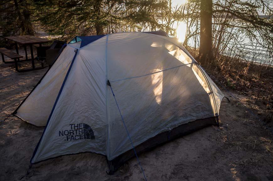 Boreal Trail campsite