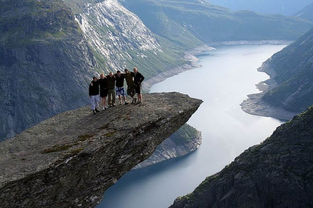 """Troll's Tongue hike in Norway"""