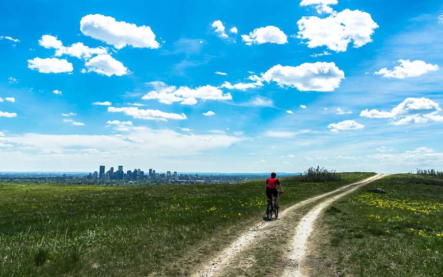Wonderful mountain biking in Nose Hill Park