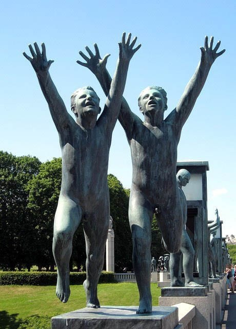 """Statues in Frogner Park, Oslo"""