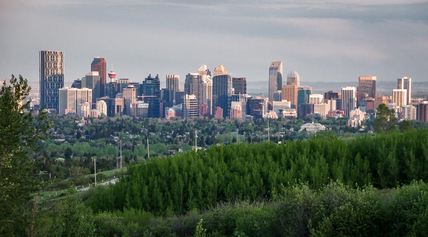 Beautiful views of downtown Calgary from Nose Hill Park