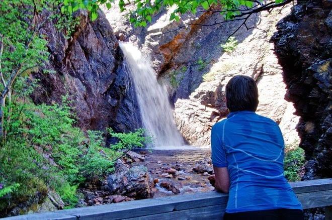 """Corner Brook Falls in Corner Brook Gorge"""