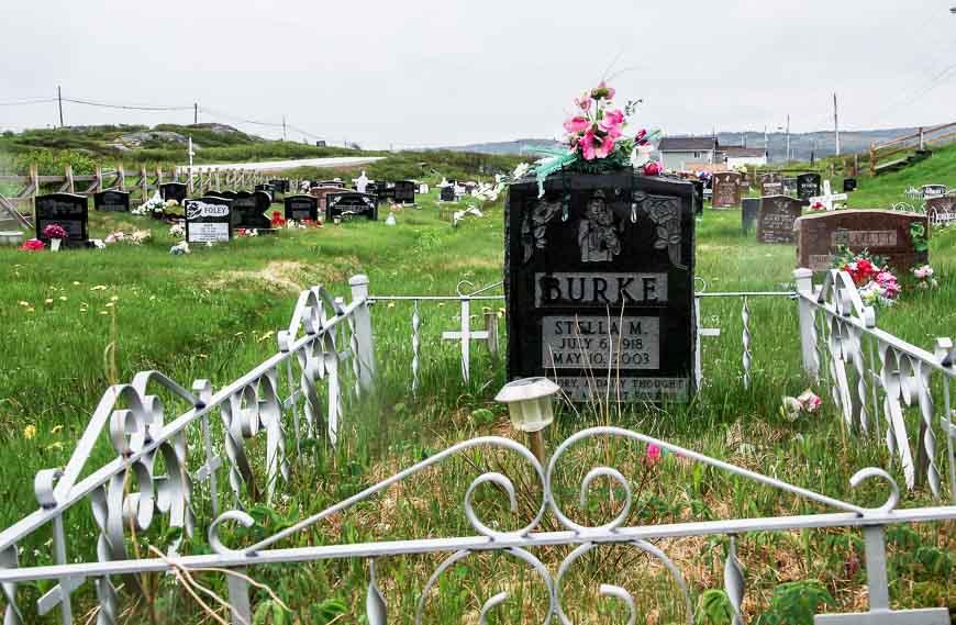 The one cemetery I saw on Fogo Island