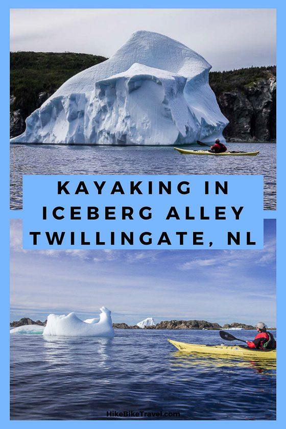 Kayaking in Iceberg Alley, Twillingate, Newfoundland