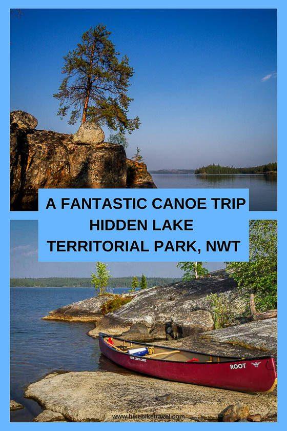 A canoe trip in Hidden Lake Territorial Park, NWT