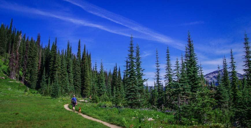 It's a beautiful hike to Eva Lake