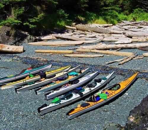 """""""Kayaks in Gwaii Haanas National Park"""""""
